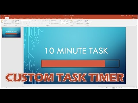 Create A Custom Progress Bar Timer In PowerPoint