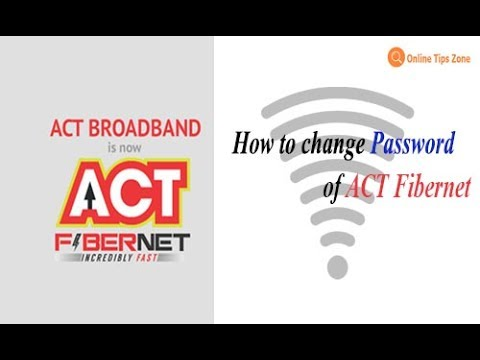 How to Change Act WiFi Password