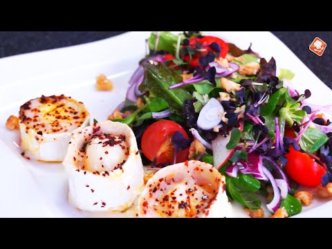 Tomaten-Feldsalat mit Ziegenkäse | Kochen Online