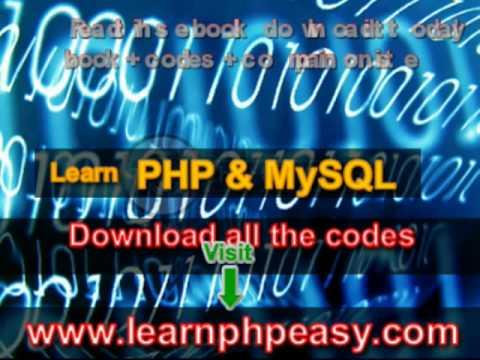 Learn PHP/MySQL web development- ebook+codes+ test site
