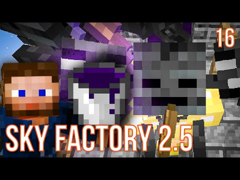 WITHER SKELETON FARM | SKY FACTORY 2.5 | EPISODE 16