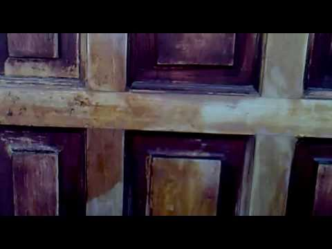 PAINT AND VARNISH STRIPPING FRONT DOOR