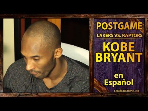 Lakers vs. Raptors: Kobe Bryant Speaks Spanish (Kobe En Español)