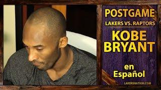 Lakers Vs Raptors Kobe Bryant Speaks Spanish Kobe En Espanol