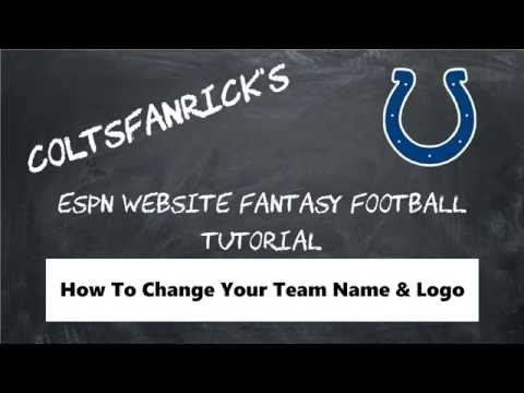ESPN Fantasy Football; How to Change Logo and Team Name
