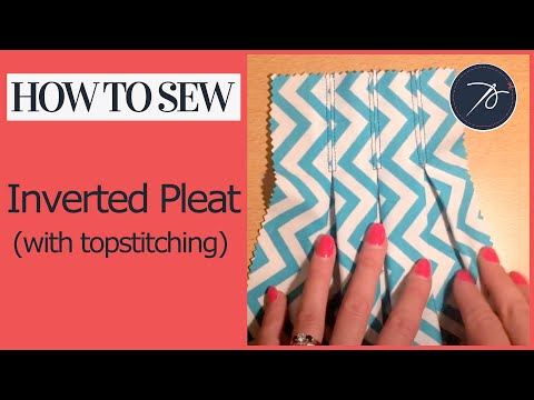Inverted Pleat with Topstitching