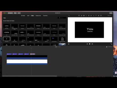 How to Make A Count down timer (Imovie)