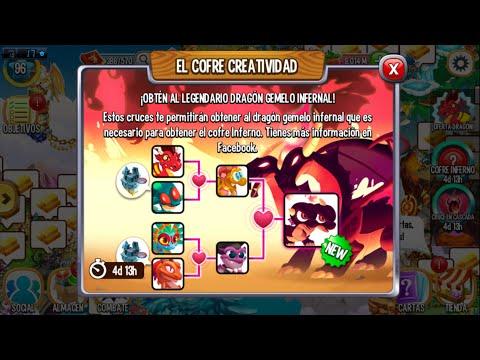Dragon city | Cruce en cascada Dragon gemelo infernal
