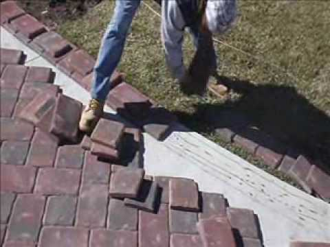 Paver Installation on Concrete Using Mason Bond