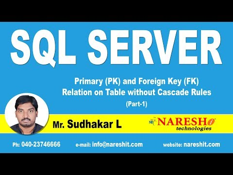 Primary (PK) and Foreign Key (FK) Relation on Table without Cascade Rules Part 1 | MSSQL Training