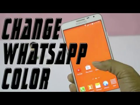 how to change whatsapp color on android