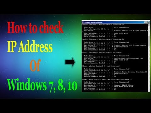 How to Check Your Computer IP Address on Windows 10 / Windows 8