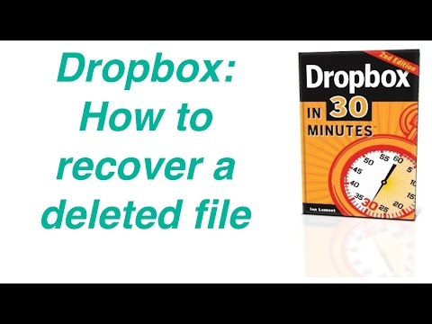 How to recover a deleted file in Dropbox