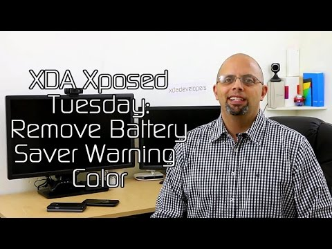 Change Battery Saver Warning Color – XDA Xposed Tuesday