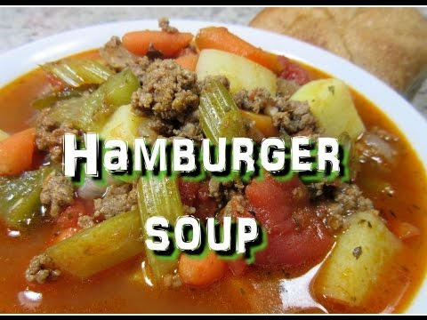 How To Make Hamburger Soup ~ Easy One Pot Power Soup Recipe