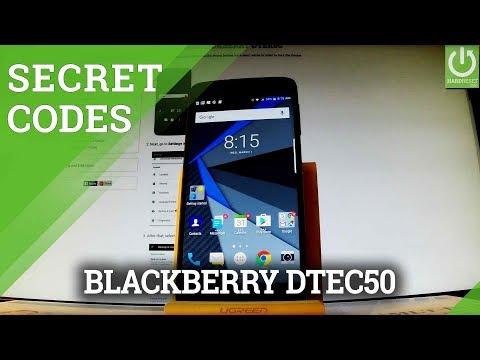 Secret Codes in BLACKBERRY DTEK50 - Tips & Tricks / Hidden Menu