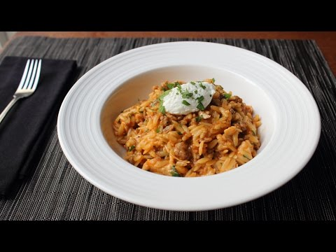 One-Pot Chicken & Sausage Orzo - Fast & Easy Pasta Recipe