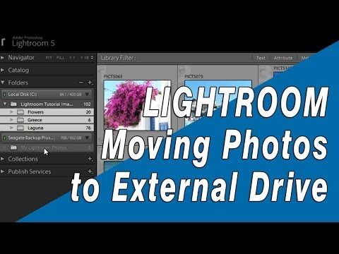 Lightroom Training: How to Move Photos or Catalog to an External Drive