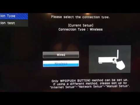 How to connect Sharp Aquos smart tv to wireless internet