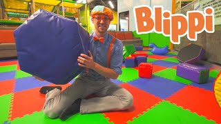 Indoor Playground Learning With Blippi | Educational Videos For Kids