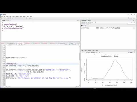 Using (base) R to create a comparative density plot