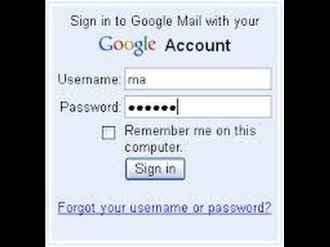 How To Reveal Forgotten Gmail Password