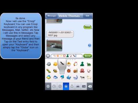 HOW TO ENABLE OR DISABLE EMOJI KEYBOARD IN IOS 6