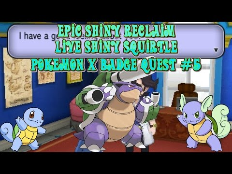 (Epic Reclaim) Live Shiny Squirtle on Pokemon X From Sycamore After Only 308 Soft Resets (BQ#5)