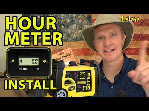 🔧 INSTALLING AN HOUR METER ⏳ on a Champion Inverter Generator