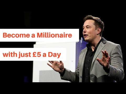 how to become a millionaire with £5 a day (2018) UK