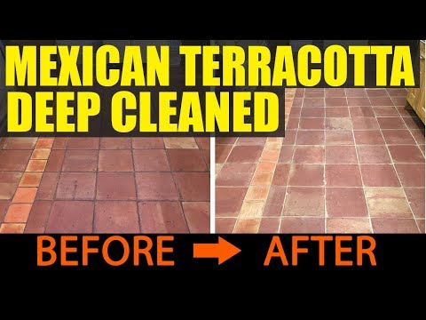 Mexican Terracotta Tile Cleaning Shropshire