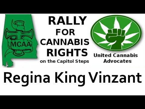 Regina King Vinzant speaks at the rally for Cannabis Rights September 8, 2016