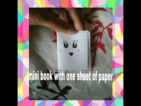 How to make a mini book with A4 sheet paper