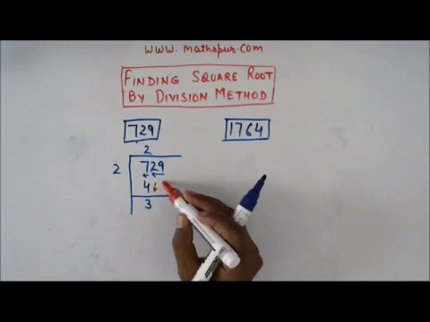 Finding Square root by division method (part 1)