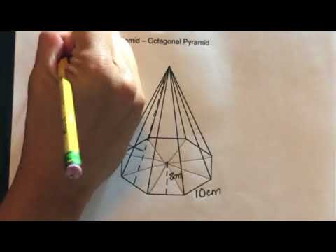 How to find the Surface Area of an Octagonal Pyramid