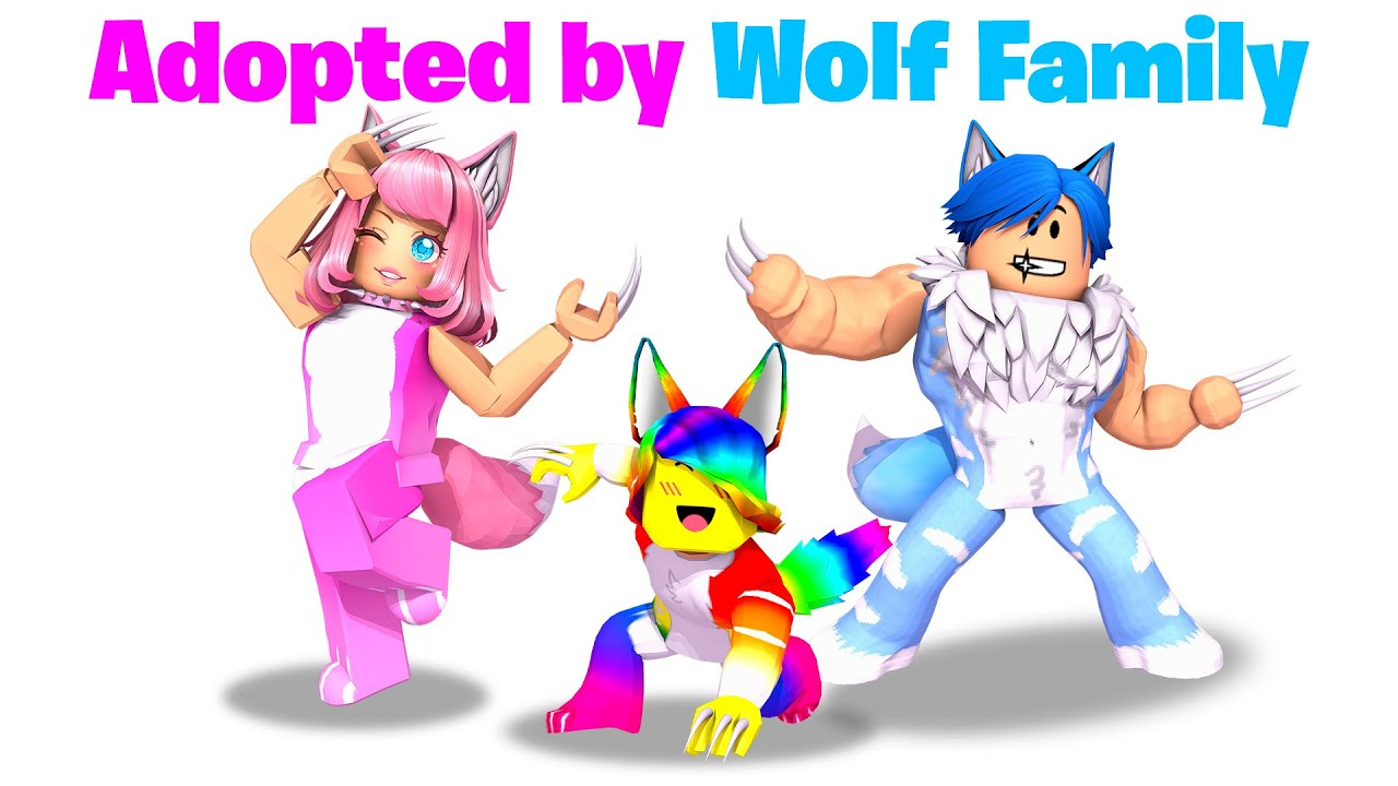 BABY Tofuu gets Adopted by WOLF FAMILY.. 🐺🐾 (Roblox)