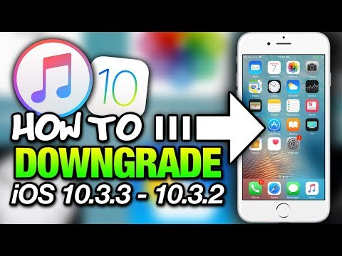 How To DOWNGRADE iOS 10.3.3 To 10.3.2 With iTunes - iPhone - iPad - iPod Touch