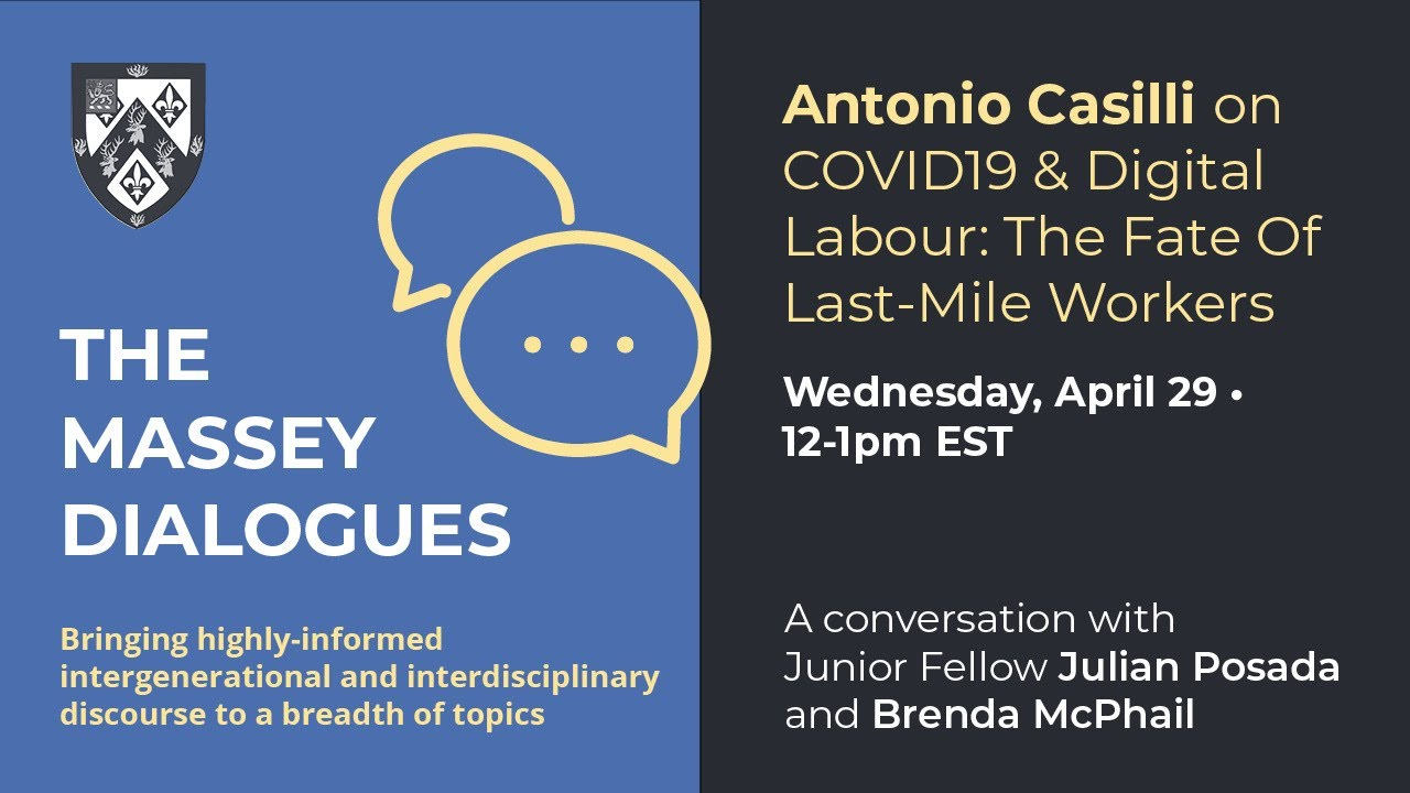 Massey Dialogues: Prof. Antonio Casilli on COVID19 & Digital Labour: The Fate Of Last-Mile Workers