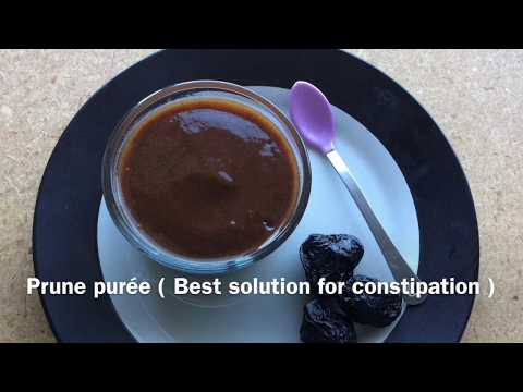 Prunes puree  baby food 4M+   homemade organic prune puree for baby  best remedy for constipation