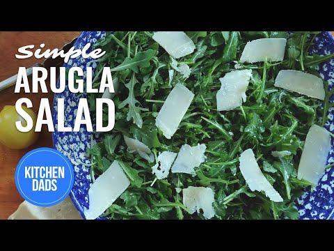 How to Make an Arugula Salad with Lemon and Parmesan Dressing | Keto Salads