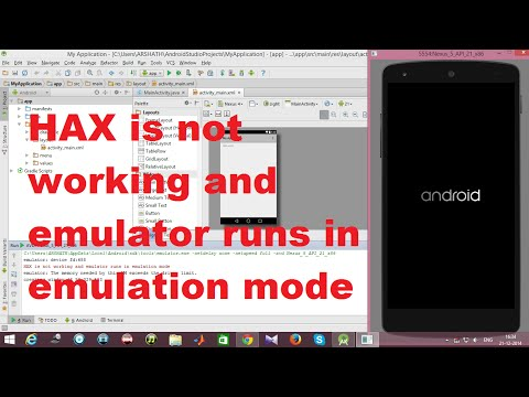 HAX is not Working and Emulator Runs in Emulation Mode - Android Error Solved