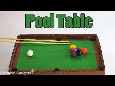 How to make a Mini Pool Table