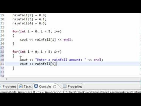 C++ Programming: Intro to Arrays Part I