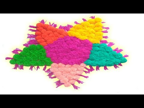 How to make Easy Door Mat,Rugs,Table Mat,Carpet From Pom Pom Decor ideas for Your Home