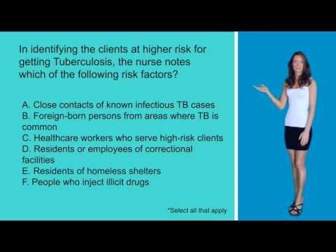 Risk Factors for TB! Nursing Exam/NCLEX Style Question!!
