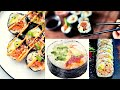 Spicy Salmon Roll | Futomaki Sushi | Shrimp Crab Sticks Fancy Sushi Recipe By Chef Yanchev Special