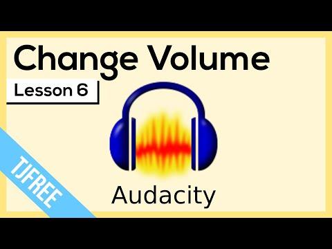 Audacity Lesson 6 - Increase and Decrease Volume