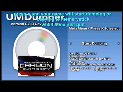 how to get umdumper copy,rip,backup, or just dump your psp umds