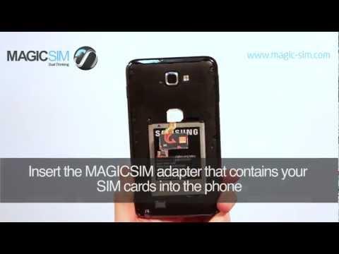 Samsung Galaxy NOTE (GT-N7000)- Dual SIM Adapter - MAGICSIM ELITE - NO CUT B