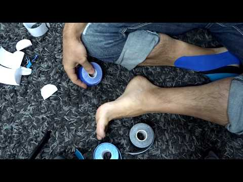 Flat Foot Fallen Arches Kinesio taping for Longitudinal and Transverse Arch | Northern Soul channel